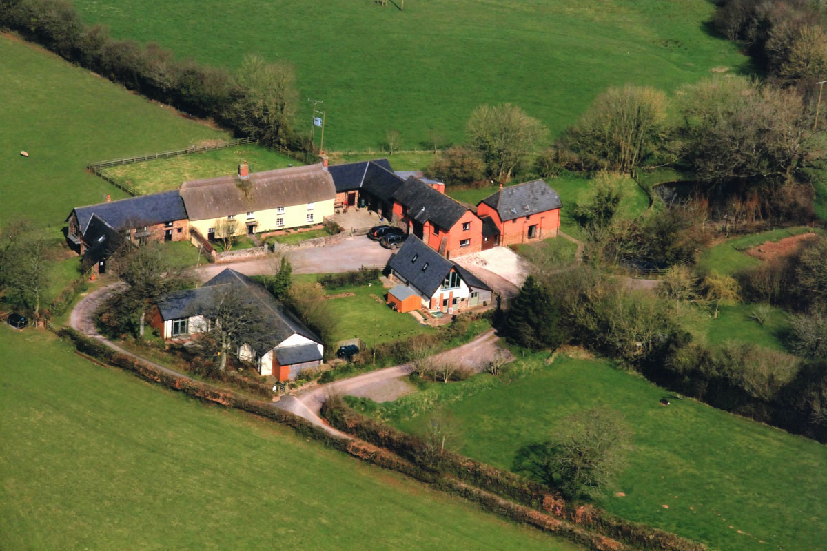 Aerial View Southcoombe Holiday Cottages