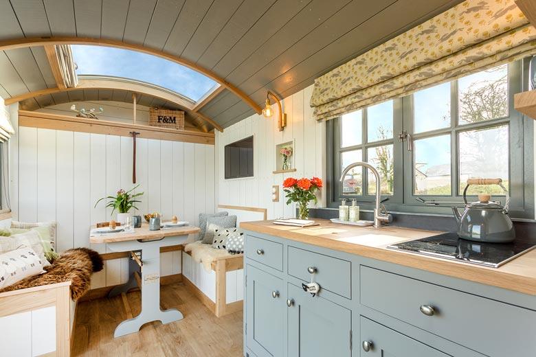 Merino Shepherd's Hut at South Coombe, Devon